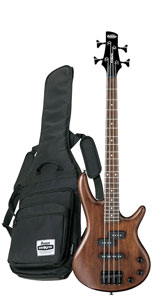Kinder E-Bass 3/4 - IBANEZ GSRM20B WNF MIKRO - Short Scale