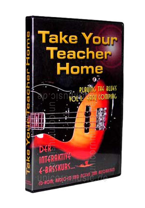 zur Artikelbeschreibung / Preis E-Basskurs TAKE YOUR TEACHER HOME - Playing the blues Vol1: Easy Comping - PC CD-ROM